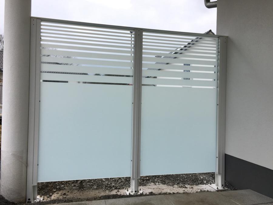 Montagebau Marc Zettl Stahl Sichtschutz Windfang